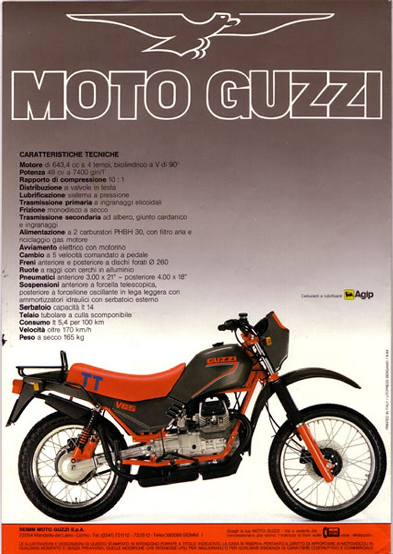 Moto Guzzi V65 TT 1987 wallpapers #139558