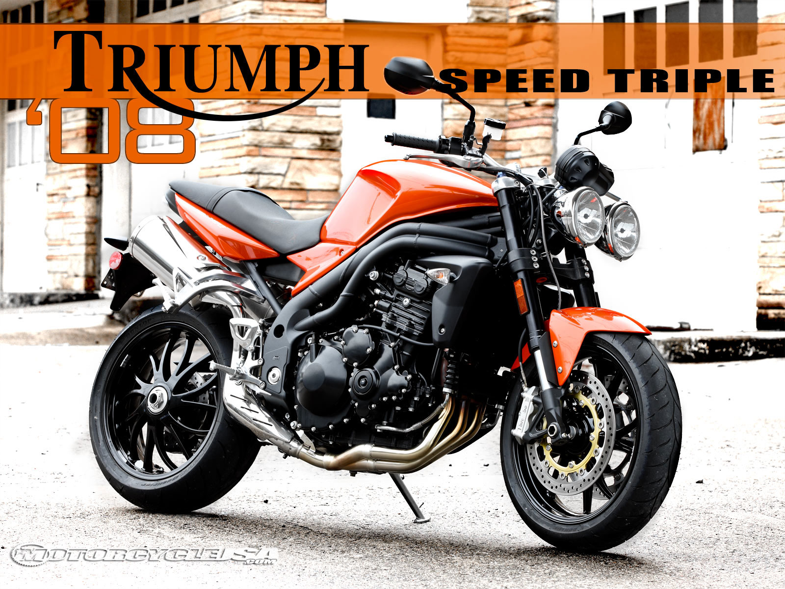 Triumph Speed Triple 1050 2008 wallpapers #130735