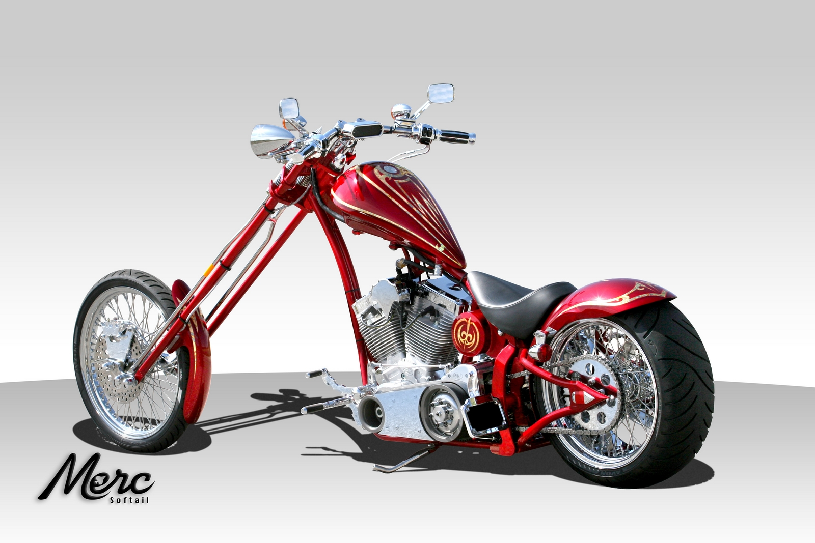 Big Bear Choppers Merc Softail 100 Smooth Carb images #63771