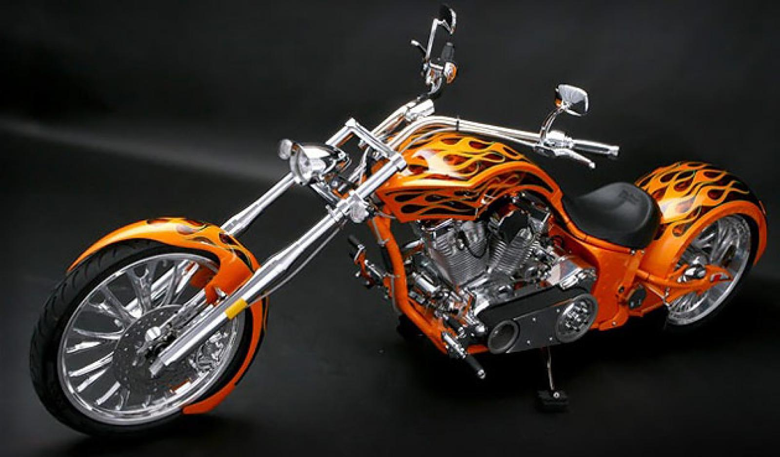Big Bear Choppers Merc Softail 100 Smooth Carb images #63775