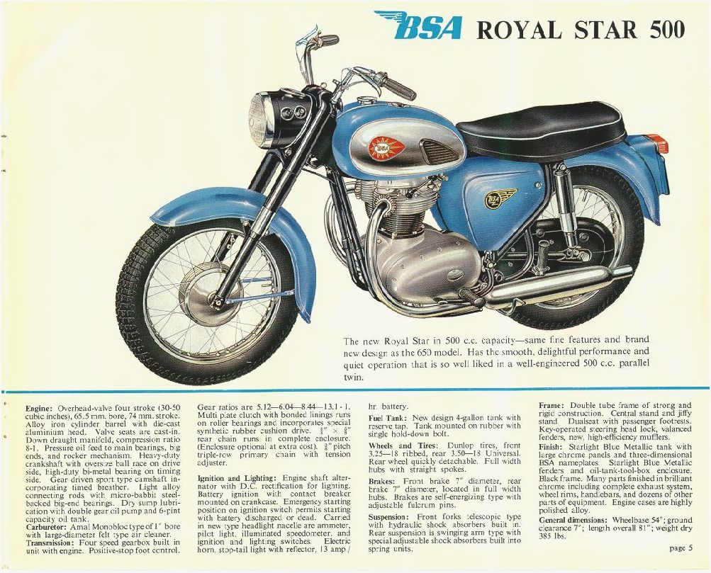BSA A 50 Royal Star 1970 images #65281