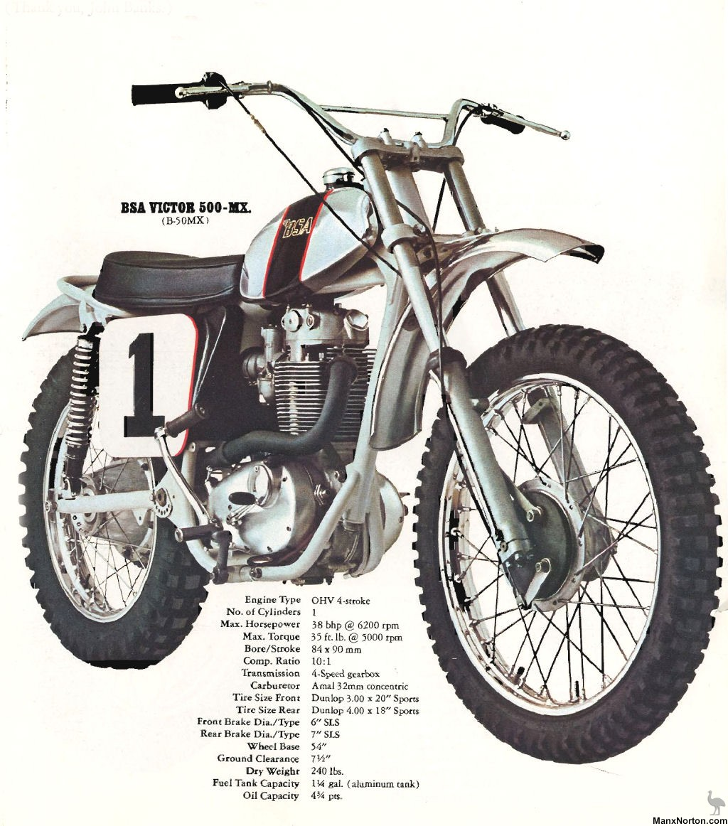 BSA Victor 500-Trail (B-50T) images #65697