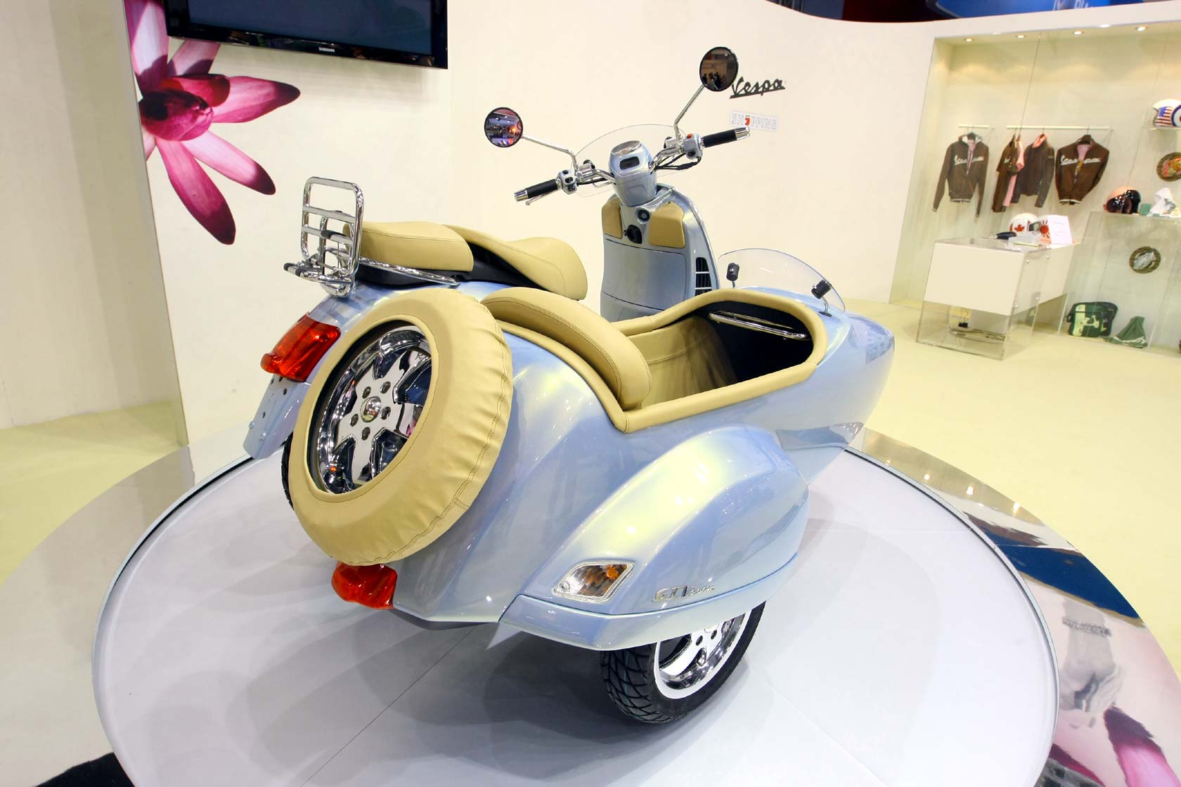 Vespa GTV 250 ie Sidecar 2009 wallpapers #129679