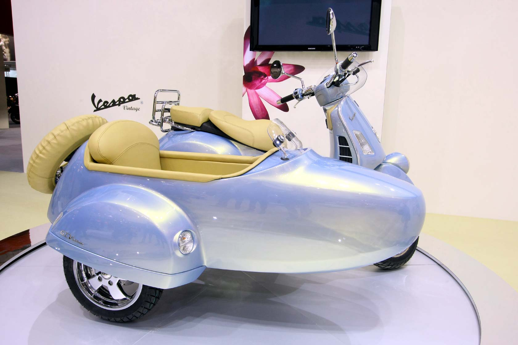 Vespa GTV 250 ie Sidecar 2009 wallpapers #129681