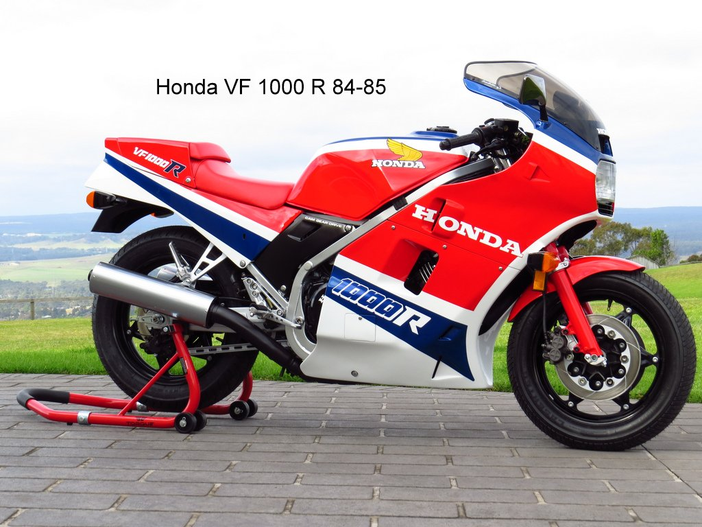 Honda VF 1000 R: pics, specs and list of seriess by year