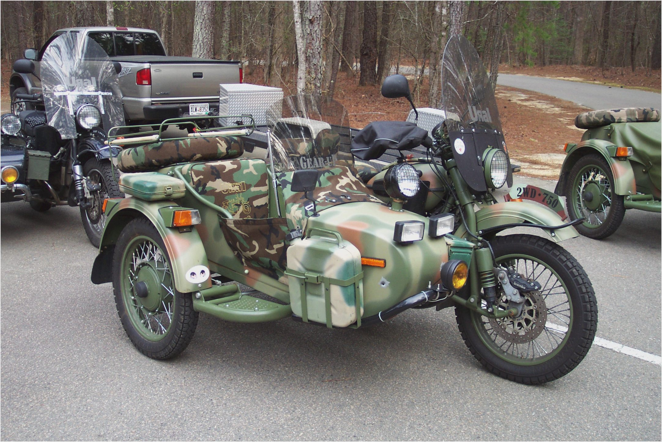 Ural M-63 with sidecar 1974 images #127425