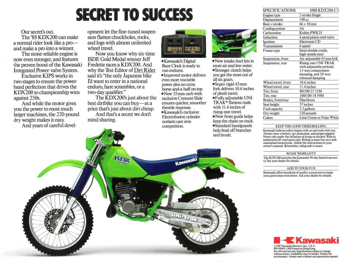 Kawasaki KMX 200 1987 wallpapers #142695