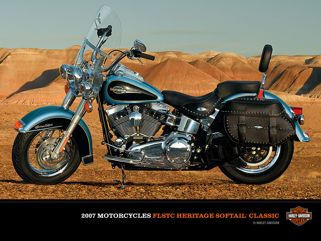 Harley-Davidson FLSTC Heritage Softail Classic 1991 wallpapers #133378