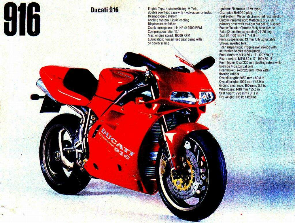 Ducati 916 Strada 1994 wallpapers #134071