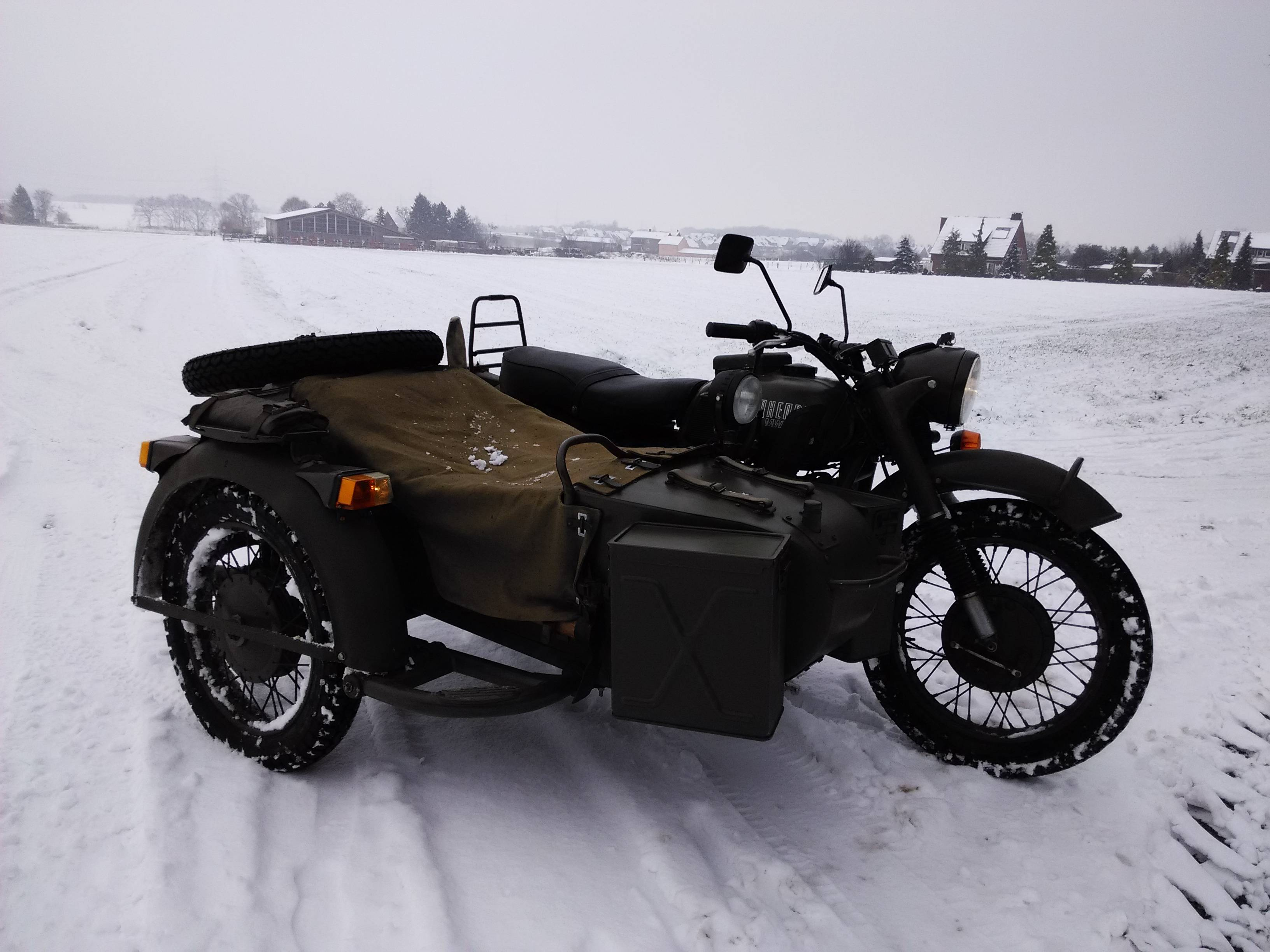 Ural M-63 with sidecar 1974 images #127430