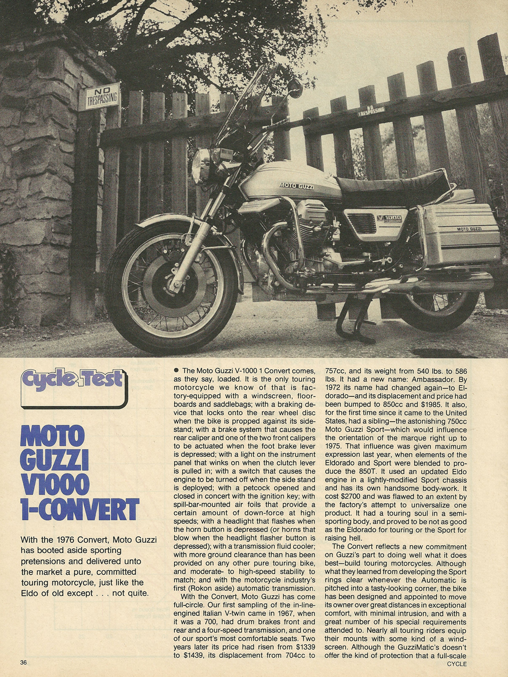 Moto Guzzi V 1000 I-Convert 1976 wallpapers #139627