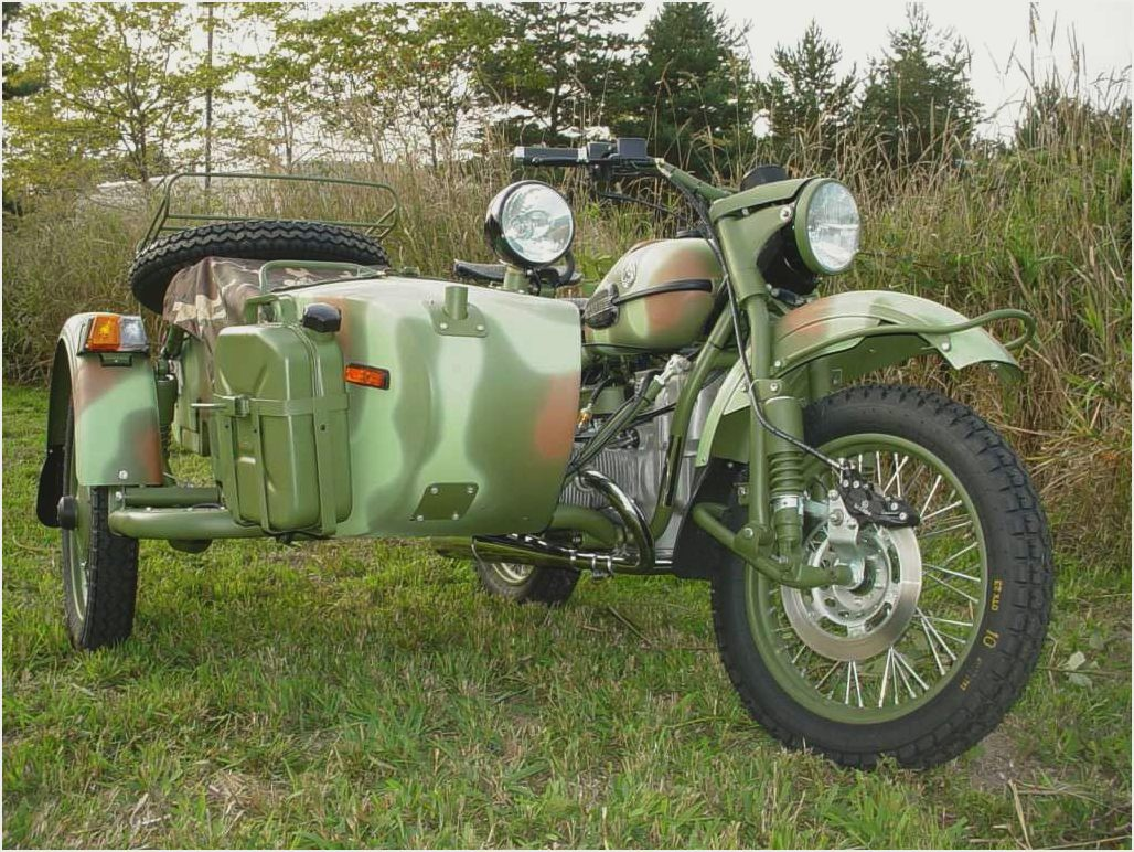 Ural M-63 with sidecar 1974 images #127433