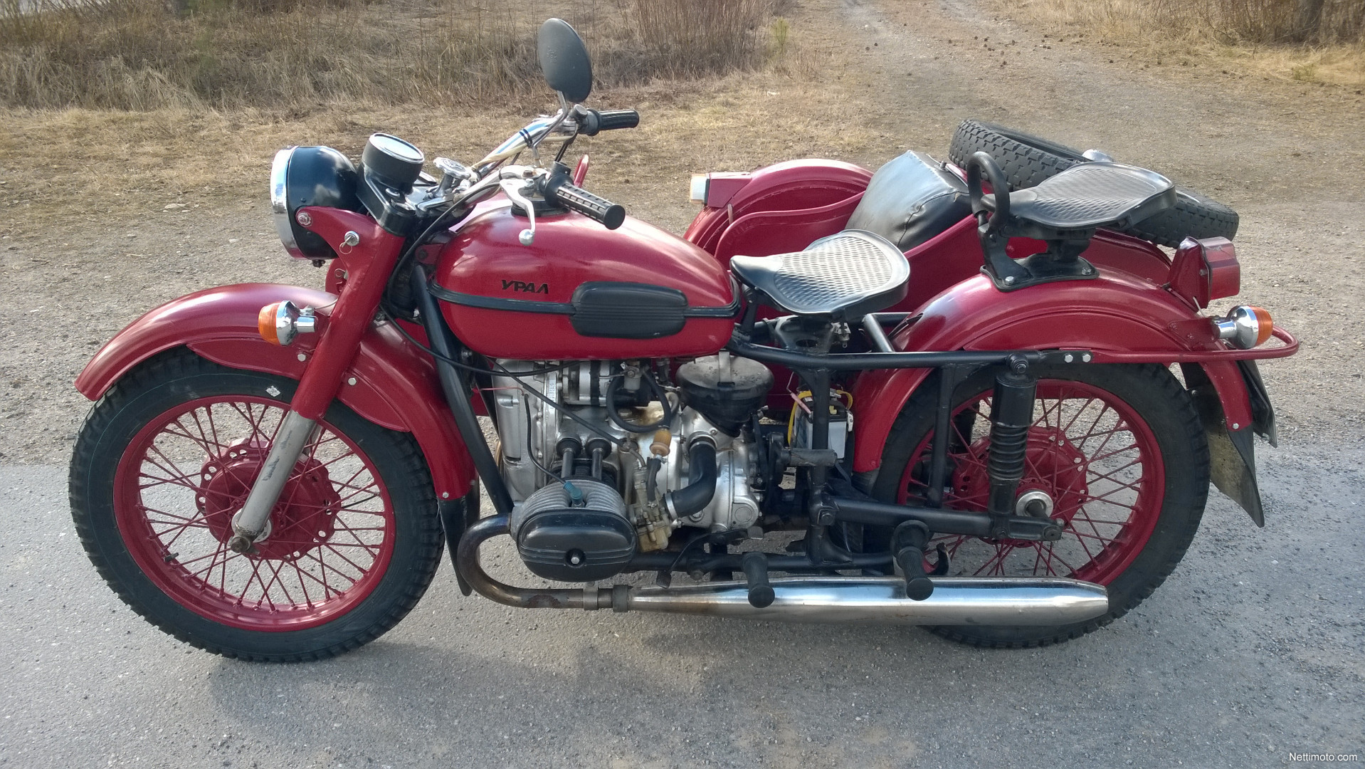 Ural M-63 with sidecar 1975 images #127075