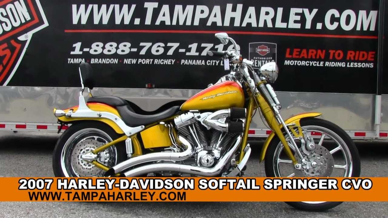 Harley-Davidson FXSTSE Screamin' Eagle Softail Springer images #81374