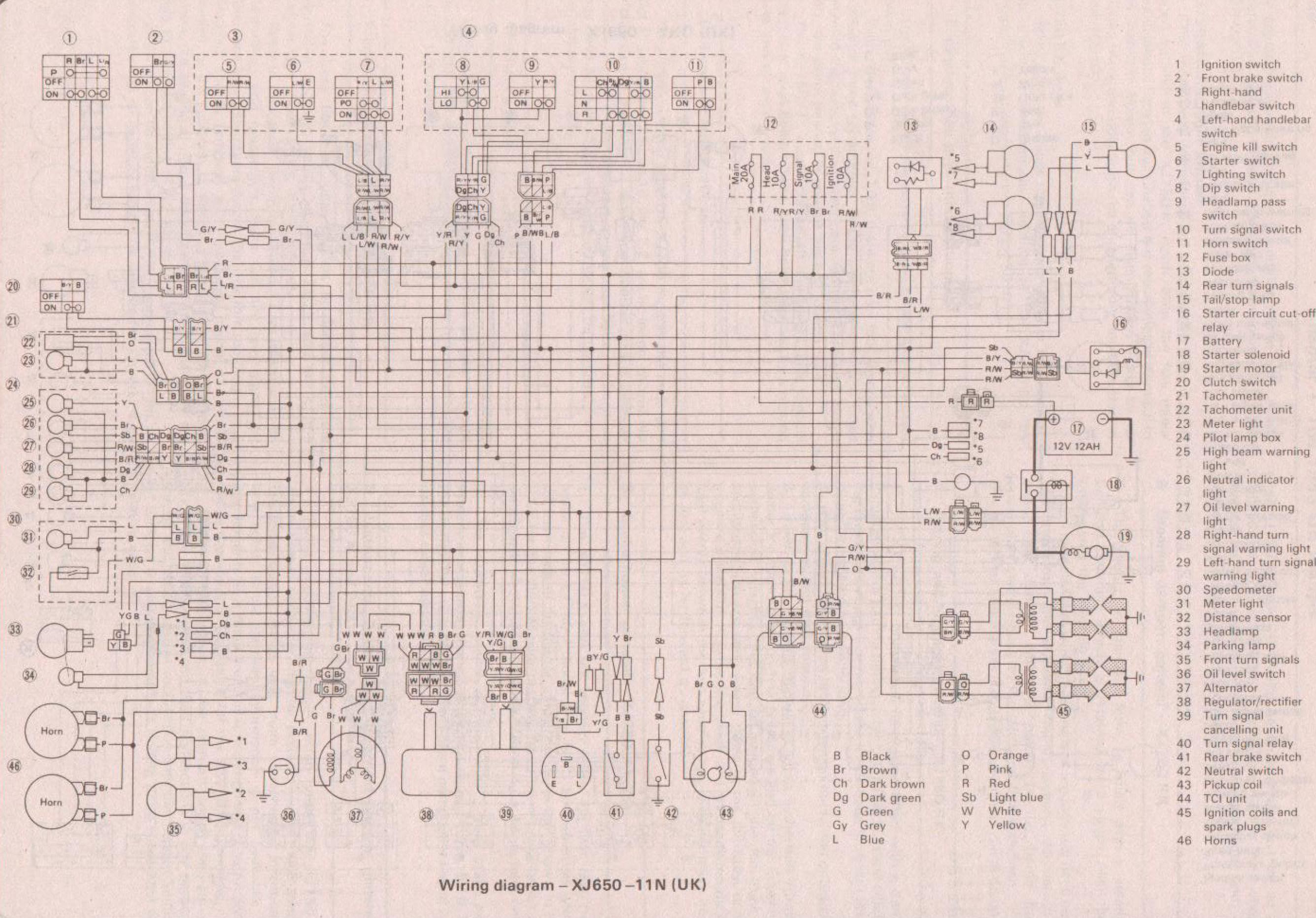 Yamaha Seca Wiring Diagram And Schematics 1983 650 Xs Xj650 Example Electrical U2022 Rh Huntervalleyhotels Co 2