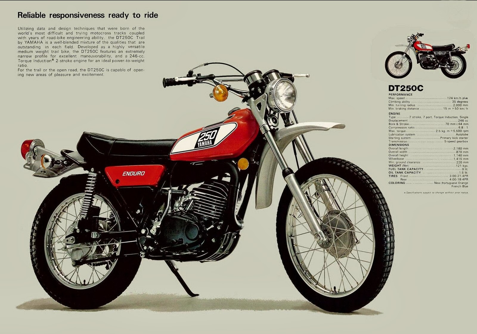 Yamaha Dt 250 Pics Specs And List Of Seriess By Year