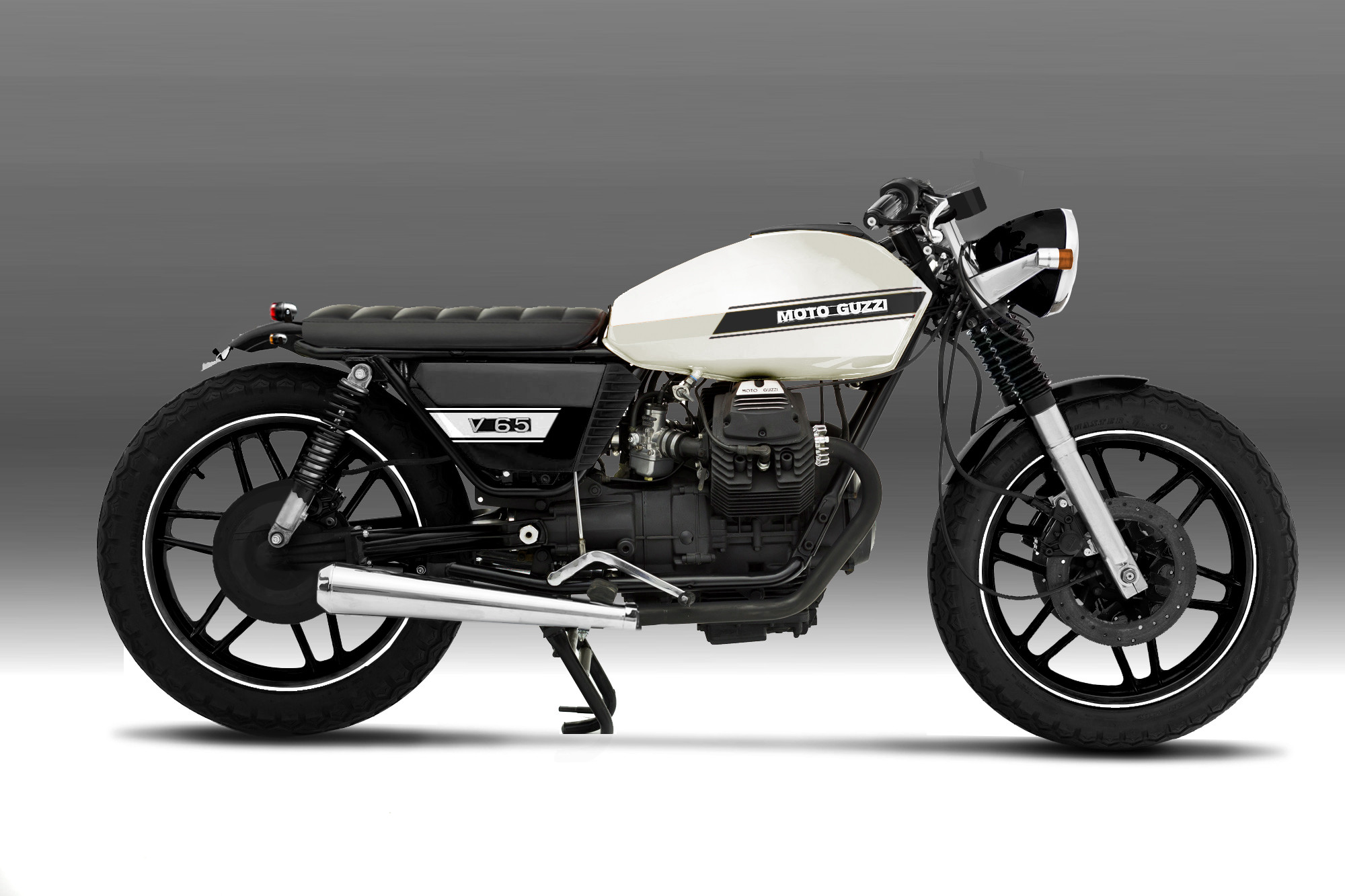 moto guzzi v65 custom pics specs and list of seriess by year. Black Bedroom Furniture Sets. Home Design Ideas