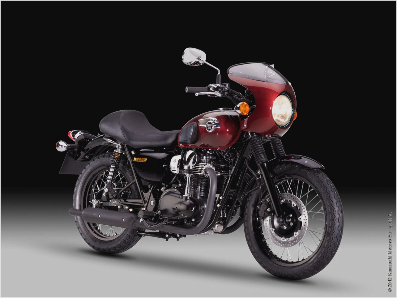 2011 kawasaki w800 cafe style pics specs and information. Black Bedroom Furniture Sets. Home Design Ideas