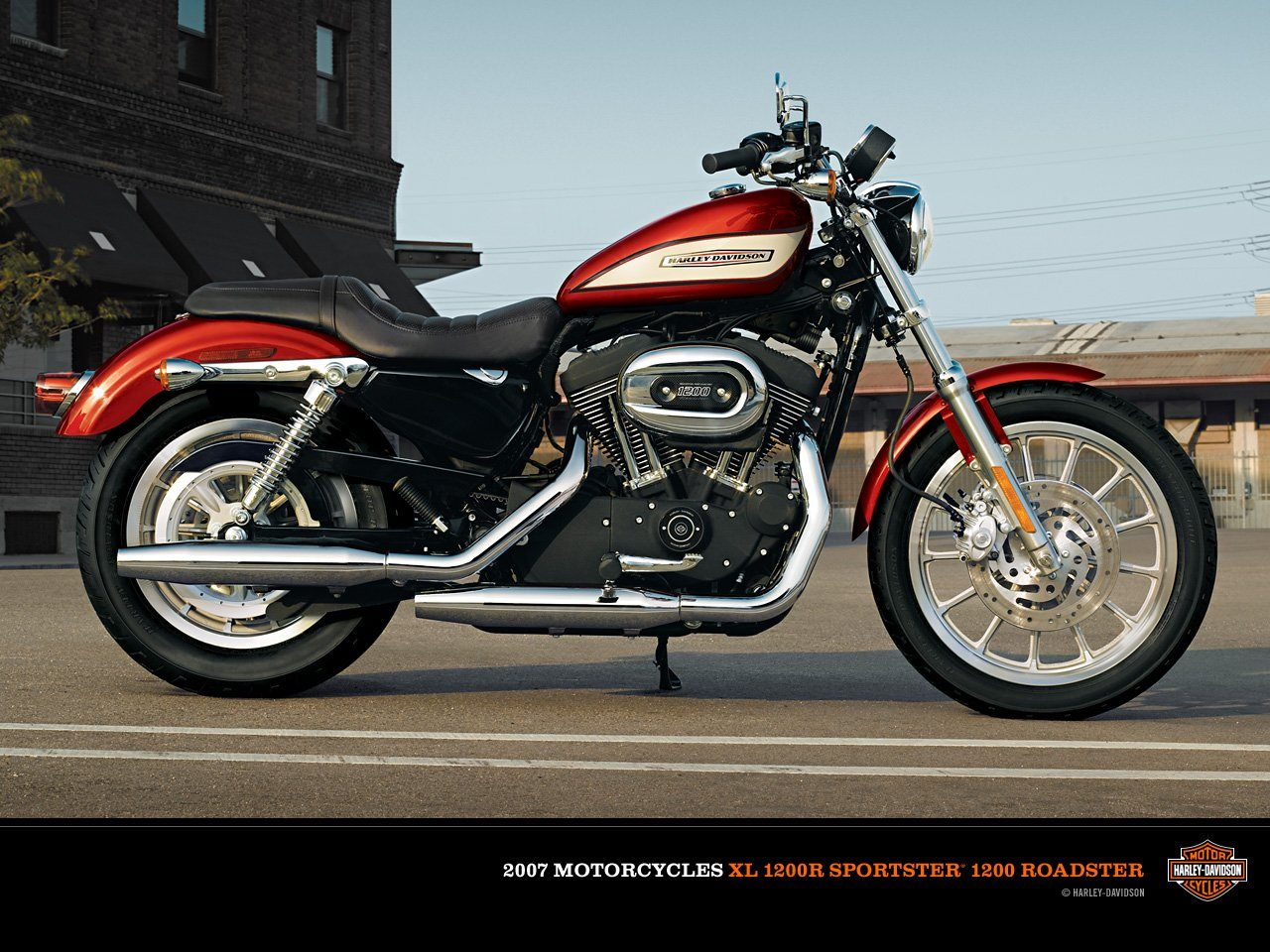 2007 Harley Davidson Xl1200r Sportster Roadster Pics Specs And Information Onlymotorbikes Com