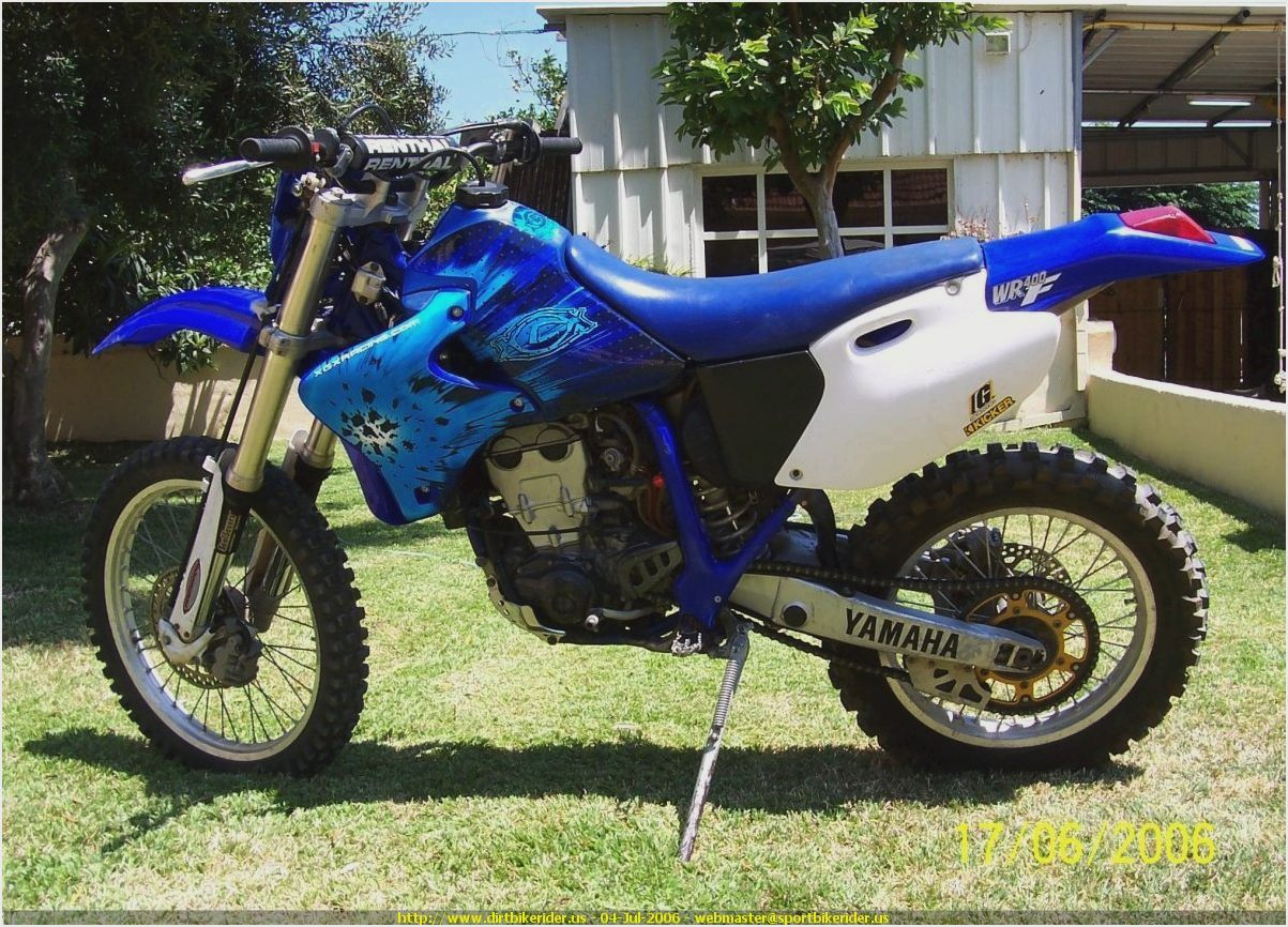 yamaha wr 400 f pics specs and list of seriess by year. Black Bedroom Furniture Sets. Home Design Ideas